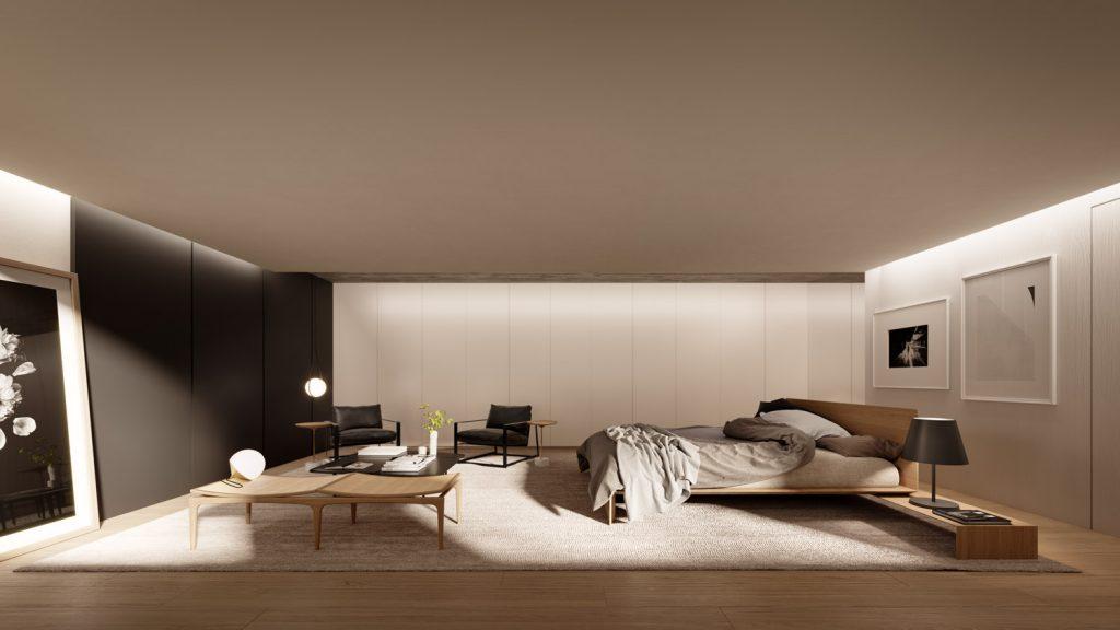 Suíte do apartamento de 164,7 m²